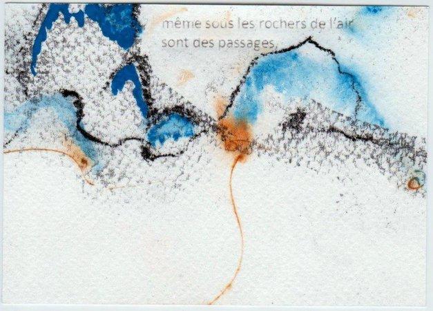 Calligraphie et pages de poésie sur l'eau