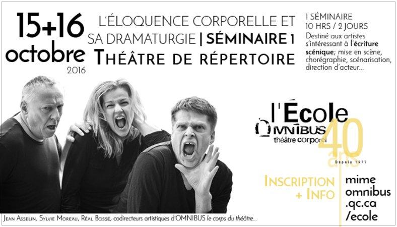 L'Éloquence corporelle et sa dramaturgie : Théâtre de répertoire