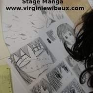 Stage de création d'une planche de Manga