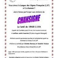 Atelier ChanSigne (chanson en Français et Langue des Signes Française)