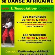 Cours de danse Africaine traditionnelle à CHARTRES avec l'Association LÖGWEY