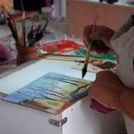 stage de peinture sur verre