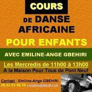 Cours pour enfants de danse Africaine